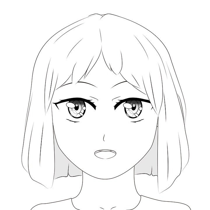Drawing Anime Manga Girl Cartoon Cute Character