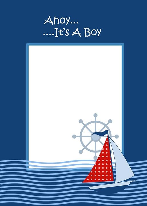 Ahoi Thema Baby Boy Laden Vorlage · Kostenloses Bild auf Pixabay