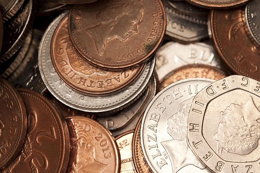 コイン, お金, 英国金, 英語での金, 投資, 通貨, 収入