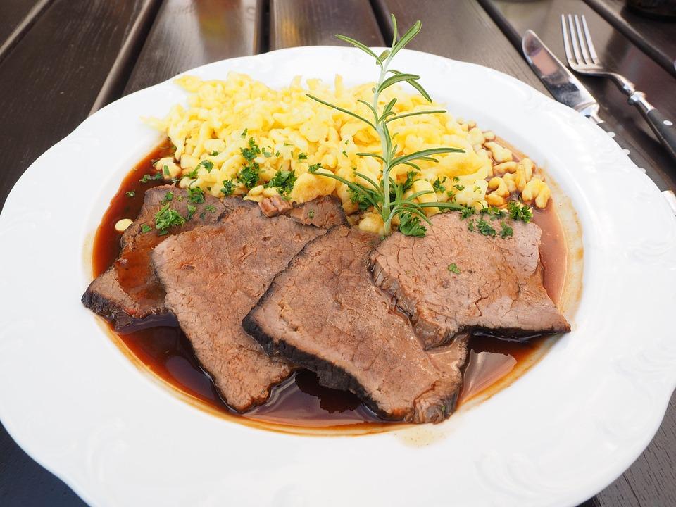 Sauerbraten, Fleisch, Fleischgericht, Schmorbraten