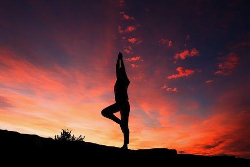 Silhouette, Yoga, Yoga Silhouette, Body
