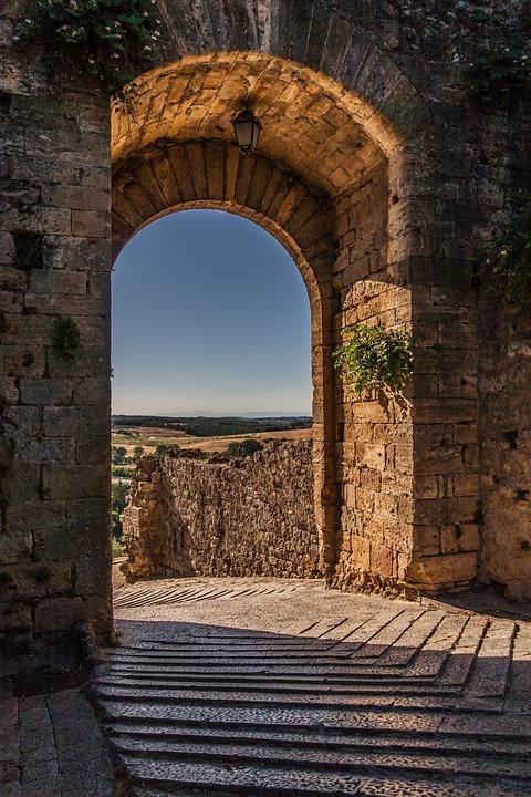 Monteriggioni, Tuscany, Mura Della Città