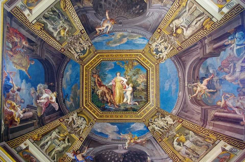 Free Photo Italy Vatican Museum Ceiling Free Image