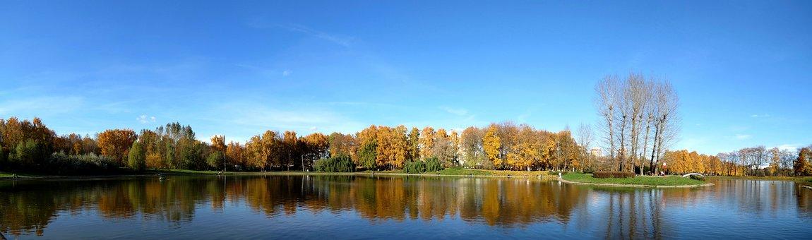 Autumn, Sky, Blue Sky, Landscape