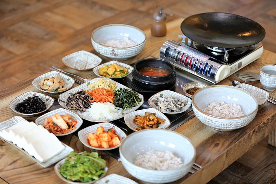 Tofu Alla Griglia E Riso, Orzo Riso, Cucina Coreana