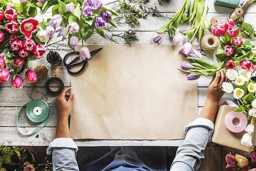 Copy Space, Craft, Florist, Floral