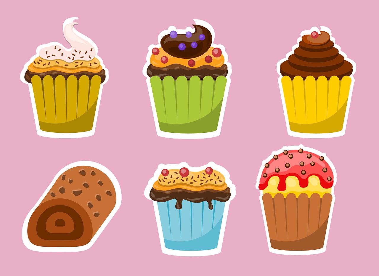 Прикольные рисунки сладости, день рождения маме