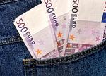 money, euro, jeans
