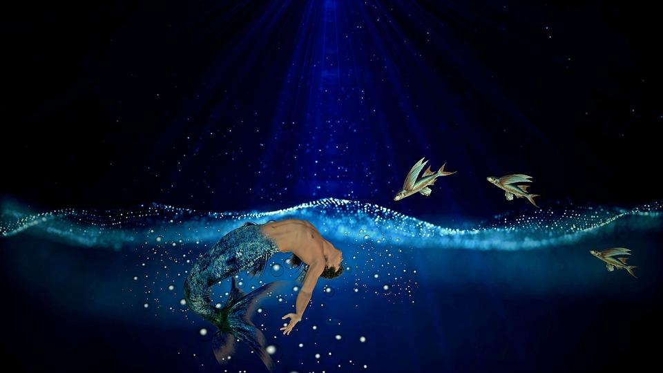 Mermaid, Sea, Water, Fish, Fantasy