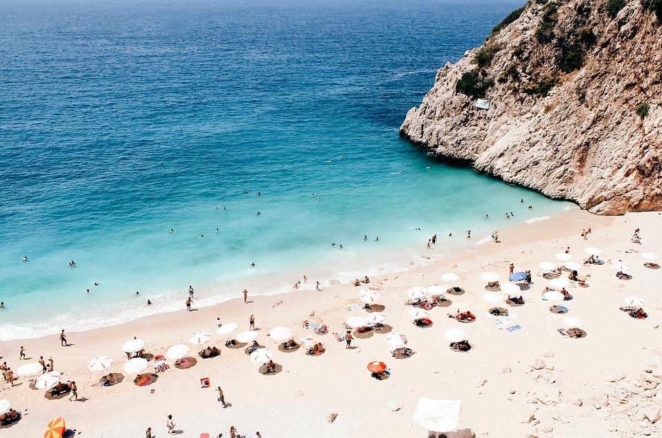Küçük, Antalya, Plaj, Türkiye, Tatil, Su, Deniz