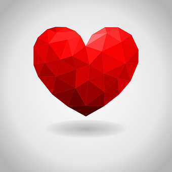 Love, Heart, Low Poly, Valentine