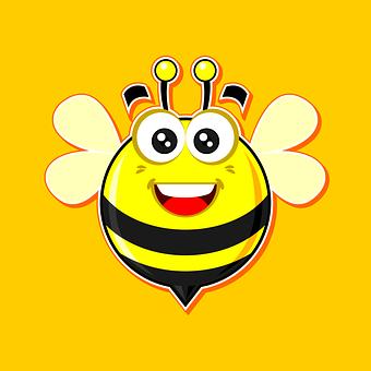 蜜蜂, 乐趣, 搞笑, 可爱, 微笑, 字符, 快乐, 脸, 白, 孩子, 幸福图片
