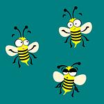 bee, mascot, face