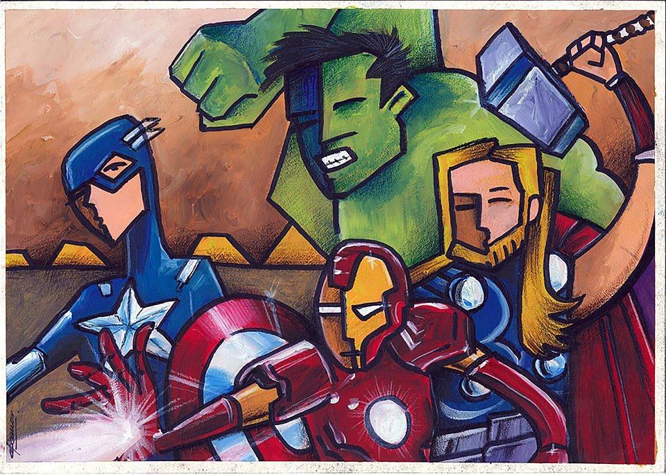 Avengers clip art courtesy of Pixabay