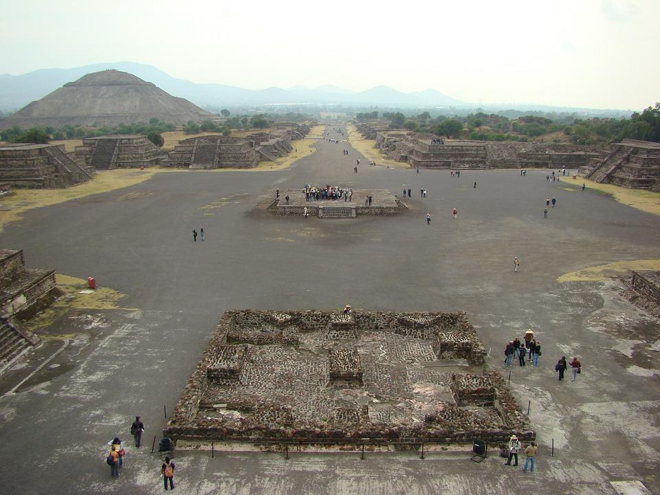 Teotihuacán, Pirámides, México, Vestigio, Prehispánico