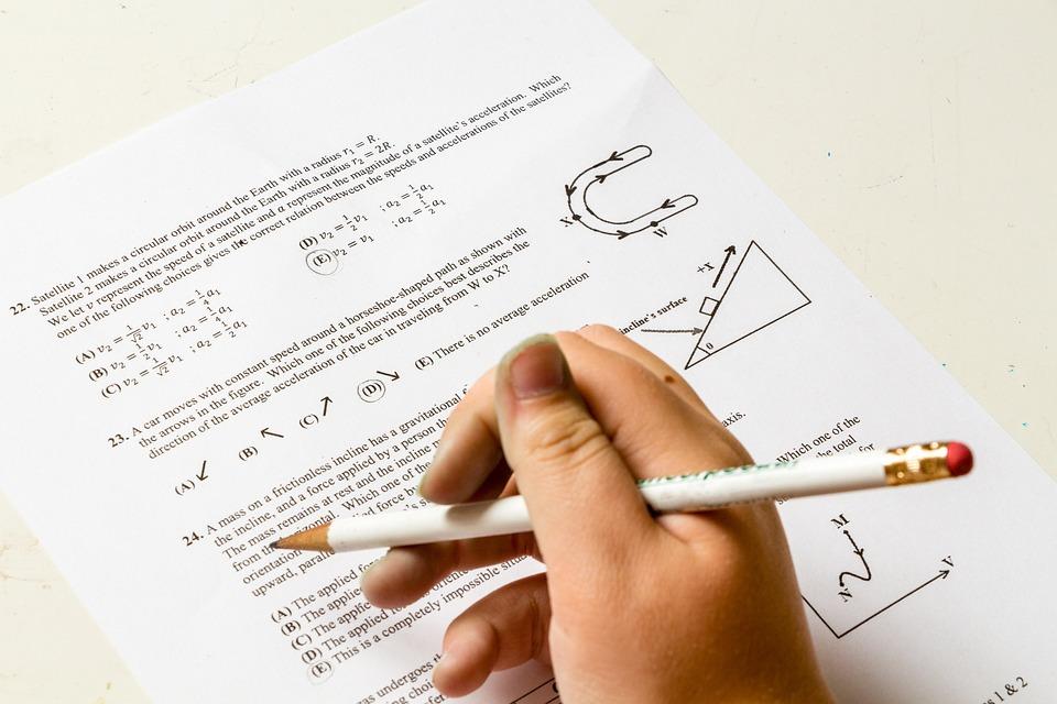 Lição De Casa, Escola, Problema, Número, Papel, Física