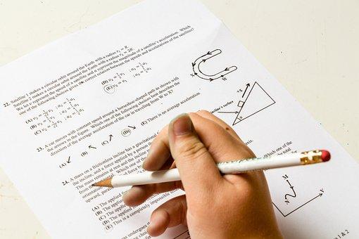 宿題, 学校, 問題, 番号, 紙, 物理学, 科学, テスト, 大学