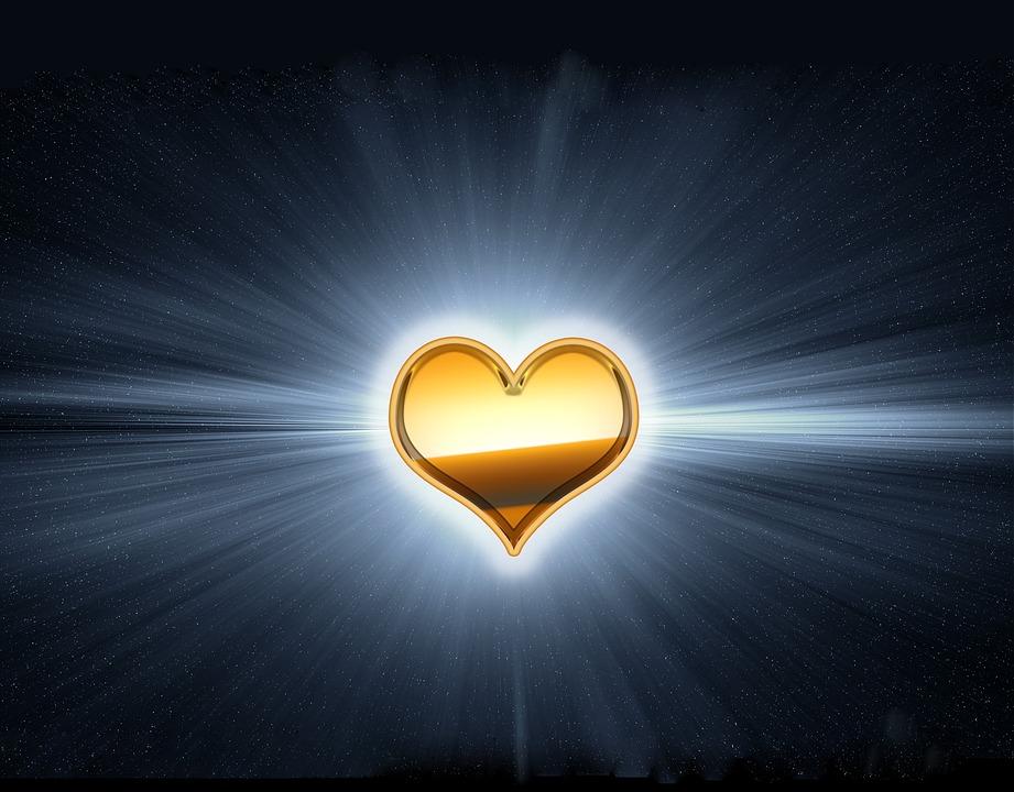 Golden Heart, Gold Heart, Radiant, Radiant Heart, Love