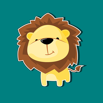 Lion, Mascot, Character, Icon, Cartoon