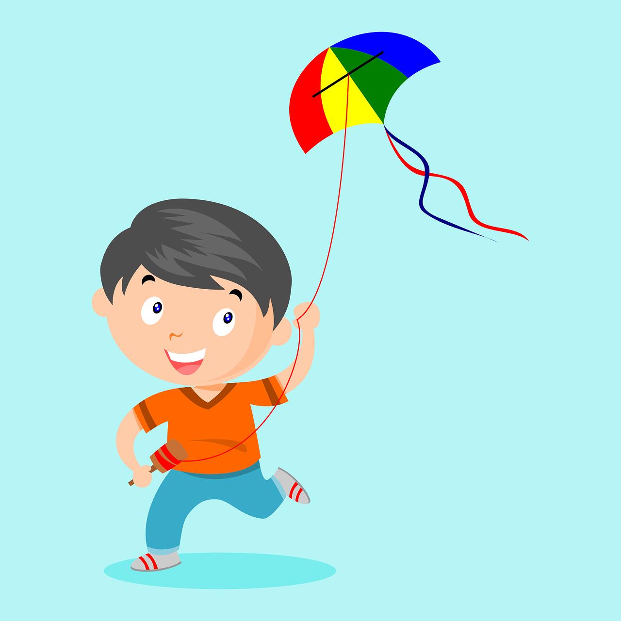 Картинка мальчика с воздушным змеем