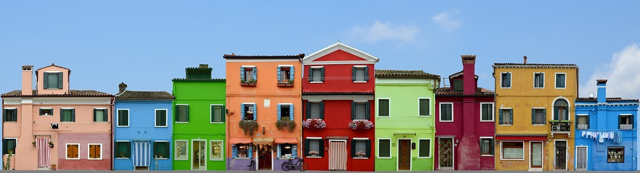 Burano, Italy, Venice, Colorful, House