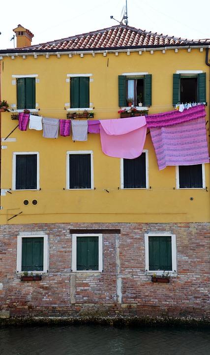 Wasche Wascheleine Hausfassade Kostenloses Foto Auf Pixabay