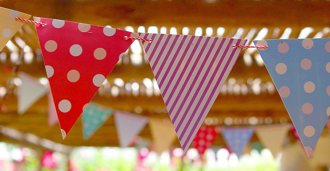 Flagg, Vimpel, Bursdagsfest, Sommer, Ut, Hot, Feire