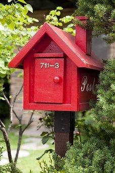 郵便ポスト, ニュース, 家, メール, 宅配便, メールボックス, カード