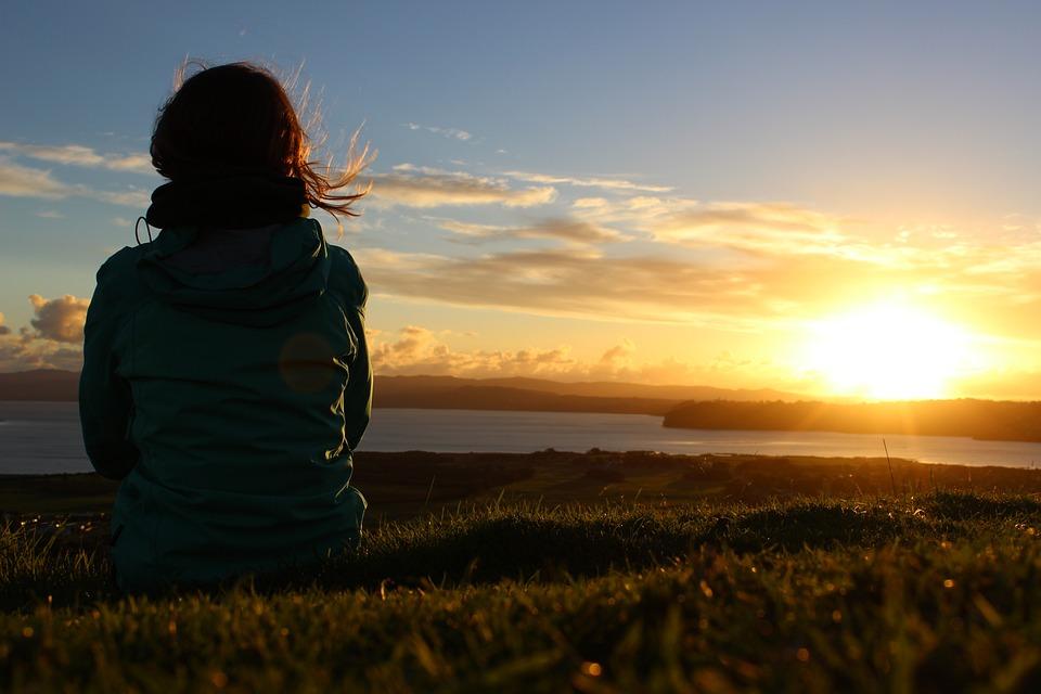 Zonsondergang, Weide, Natuur, Ontspanning