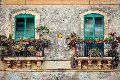 Balcony, Cuba, House, Color, Fiesta