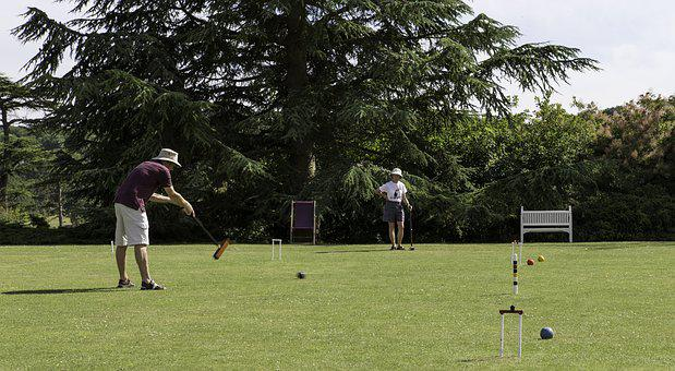 Croquet Competition, Players, Mallet