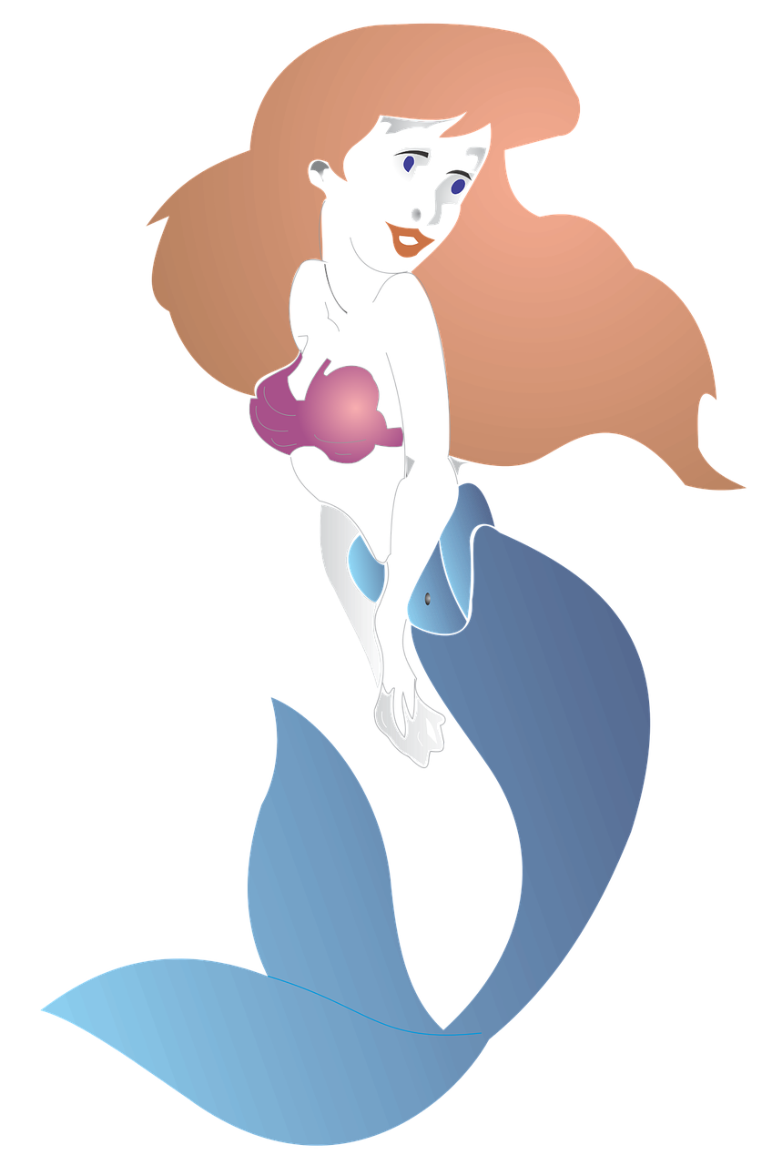 Little Mermaid Free Vector Graphic On Pixabay