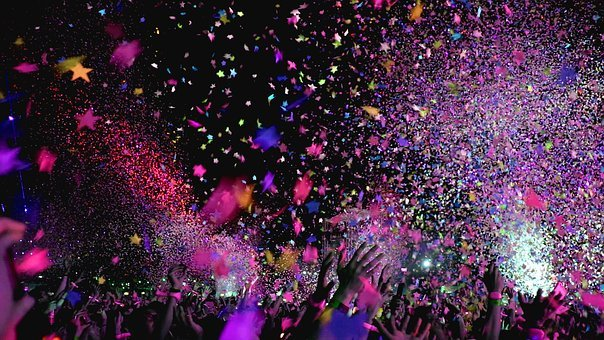 Concert, Confetti, Party, Event, Club