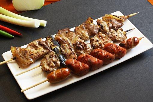 済州島黒豚串, 串料理, の, 串カツの盛り合わせ