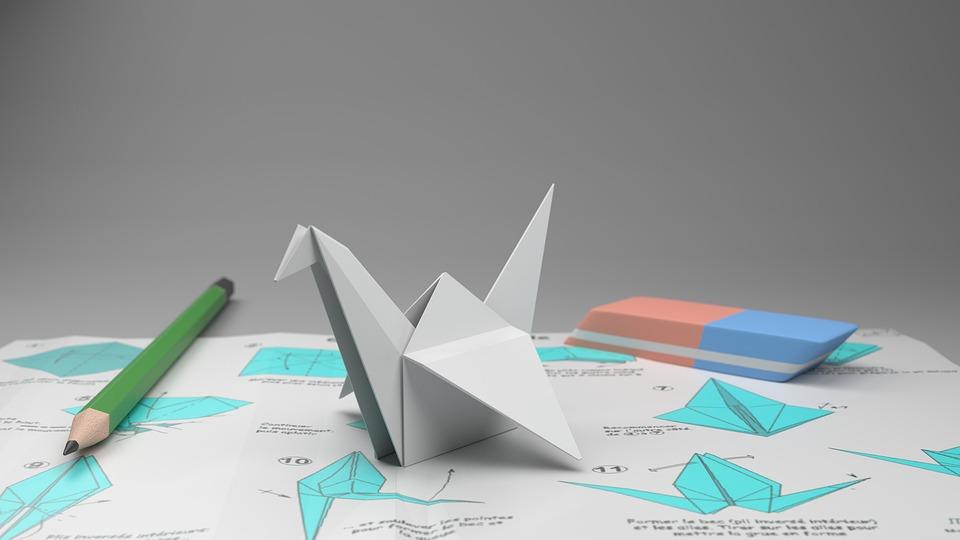折り紙, クレーン, 鉛筆-紙, ガム, 紙, 折り畳み式, グレー, ミキサー, 画像合成, 壁紙, Cad