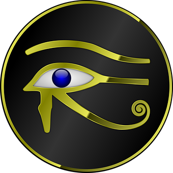 Horus, Eye, Ra, Egypt, Egyptian, Gold