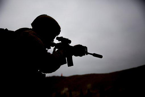 Soldier, Shooting, Training, Exercise
