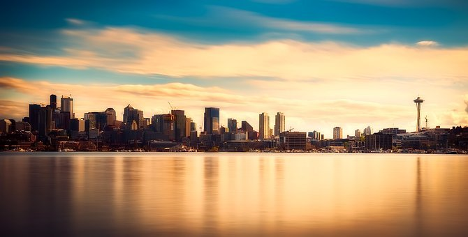 Seattle, Washington, Panorama, City