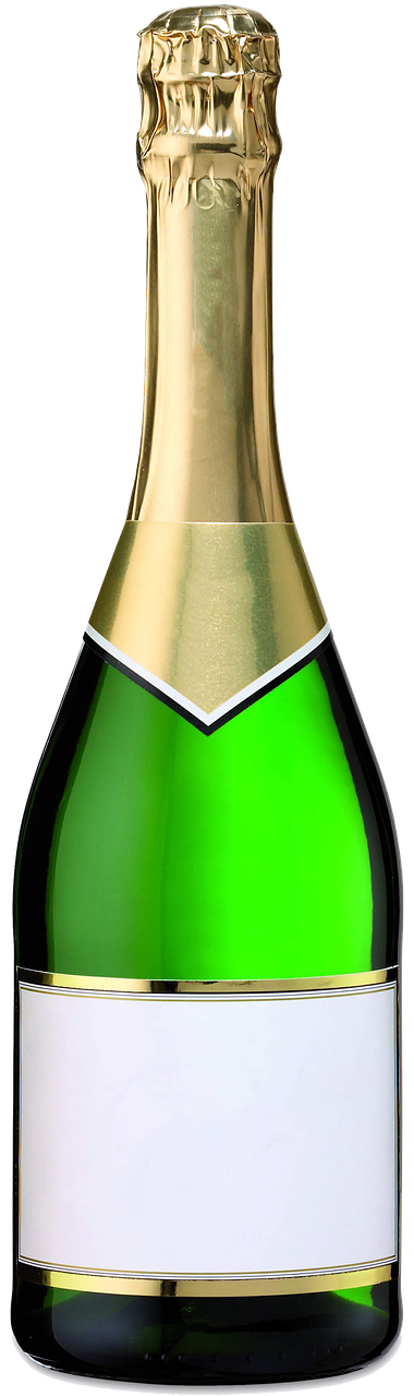 Открытка бутылка шампанского