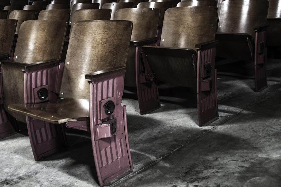 Theatre, Seats, Old, Theater, Cinema, Entertainment
