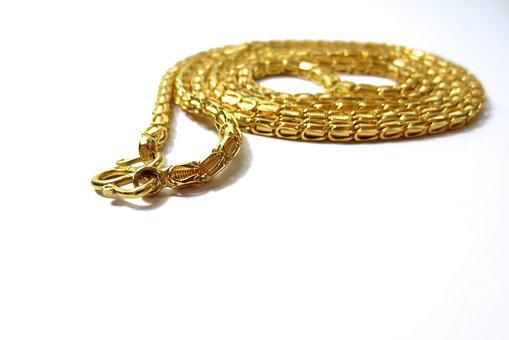 Gold, Golden, Chain, Necklace, Jewelry