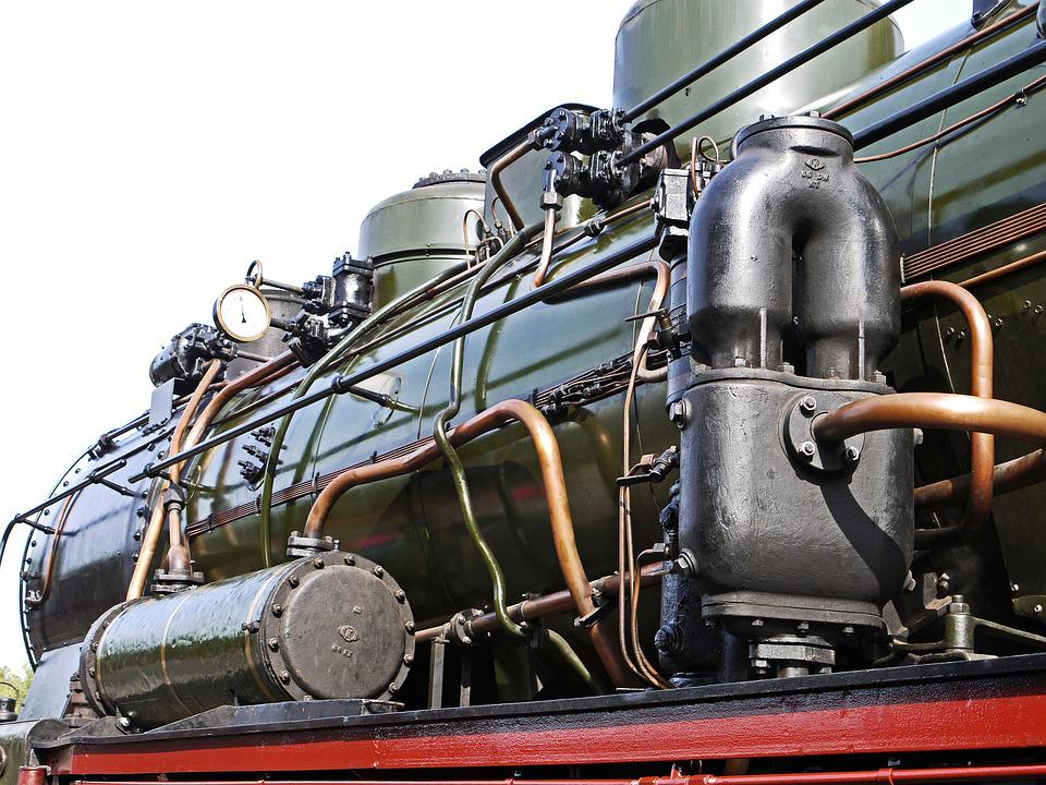 Steam Locomotive, Boiler, Heater Page, Lines, Pipes