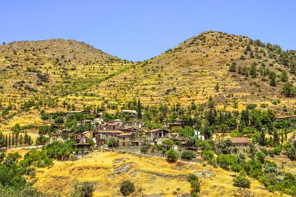 Village, Mountains, Landscape, Forest, Nature, Summer