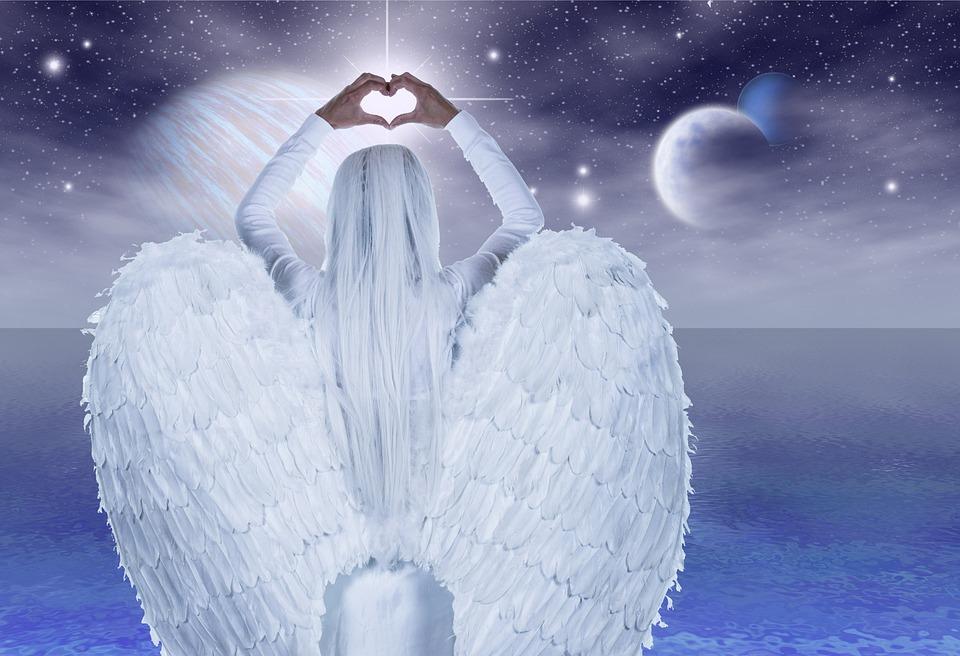 Engel, Handen, Hart, Vleugel, Geloof, Beschermengel
