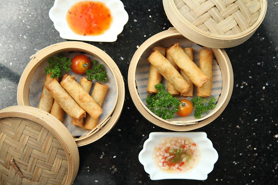 Yes, your favorite appetizer is here! It's Spring Rolls. SourcE: Pixabay