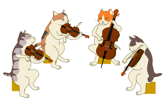 Cartoon Violin Images: Quartet Cat Violin · Free Image On Pixabay