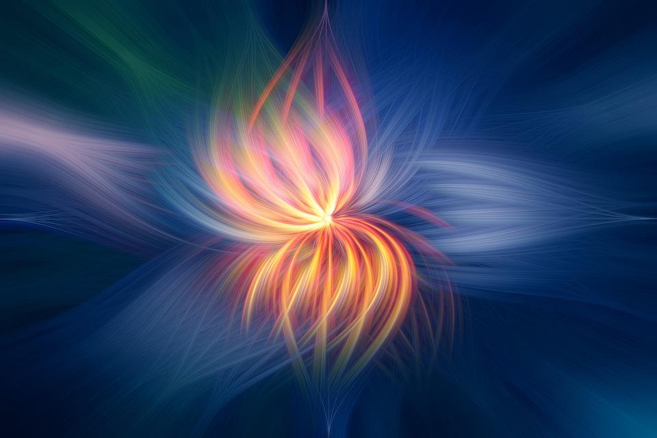 Fiore, Fuoco, Arte, Abstract, Sun, Rosso, Blu, Verde
