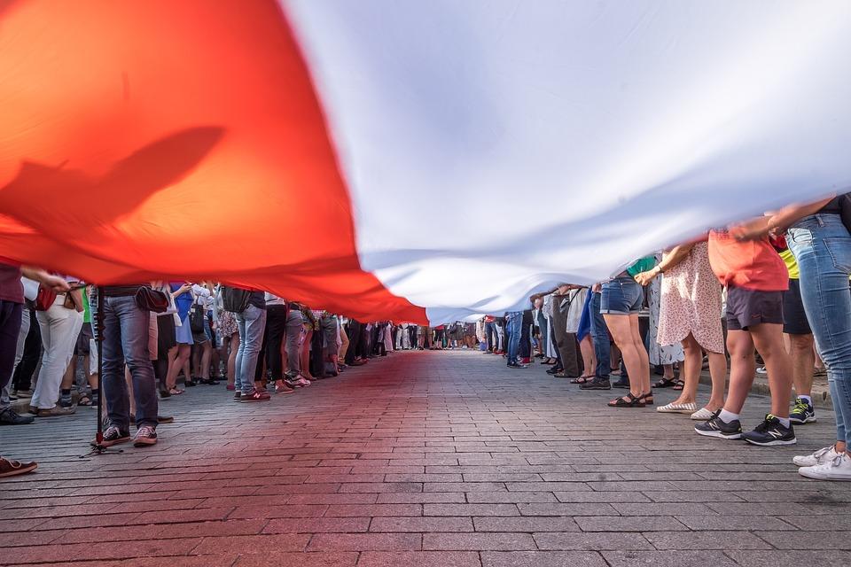 Poland, Flag, Polish, Demonstration, Political, Rally
