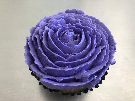 Cake, Cupcake, Flower
