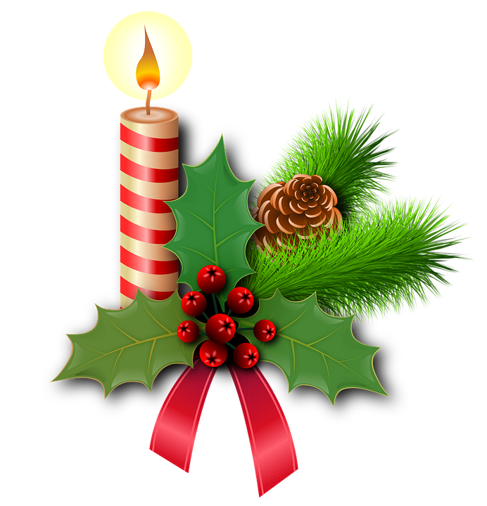christmas holly candles free image on pixabay